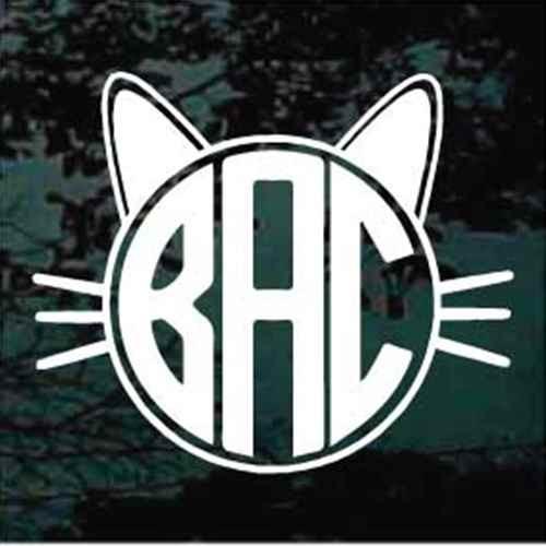 Cat Monogram Decals