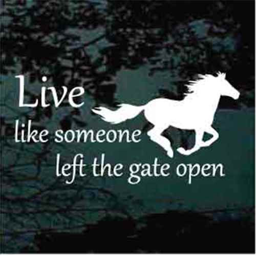 Live Like Someone Left The Gate Open Horse