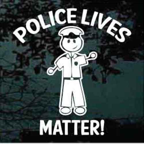 Stick Family Policeman Police Lives Matter