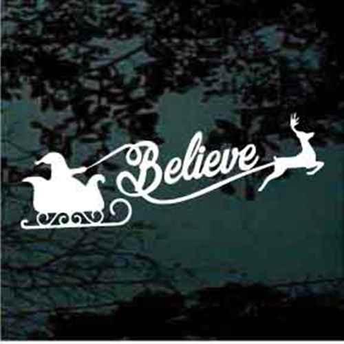Believe Santa Reindeer Sleigh
