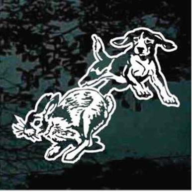 Beagle Chasing Rabbit Decals Amp Window Stickers