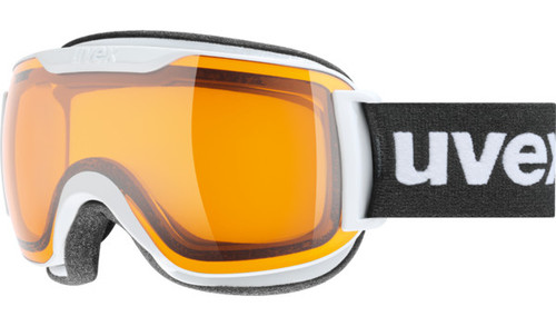 Uvex Downhill 2000 S, white Frame goggle with Yellow Vista double Lens