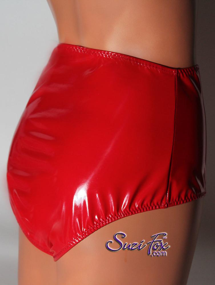 Gussett Panties Hiphugger Shown In Gloss Red Vinyl Pvc