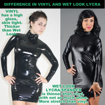 Be informed! Difference in Vinyl/PVC and Wet Look.