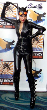 Customer Photo! (Taken at ComiCon 2011) She ordered the round zipper slider for this Catwoman character.