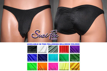 Mens Pouch Front, Wide Strap, Gathered/Scrunched back Full coverage Rear Bikini M508FG-1955