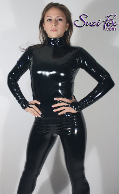 Custom Smooth Front Catsuit By Suzi Fox Shown In Stretch