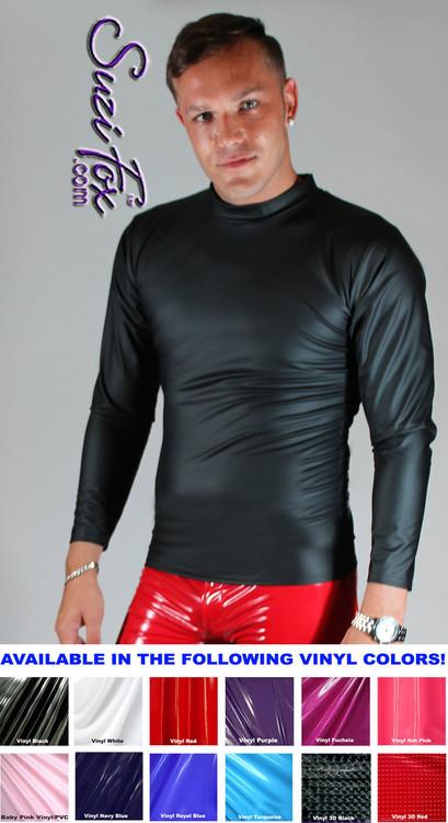 Mens Long Sleeve Shirt Shown In Black Matte No Shine