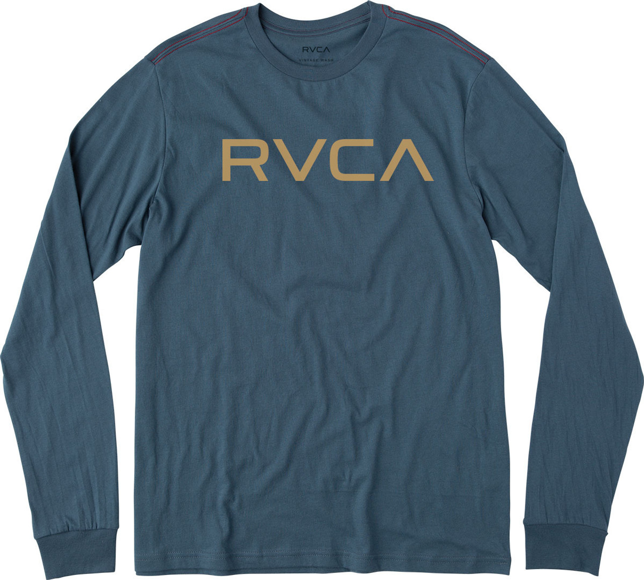 5fc9d93db RVCA Tee Shirt - Big RVCA LS - Dark Denim - Surf and Dirt