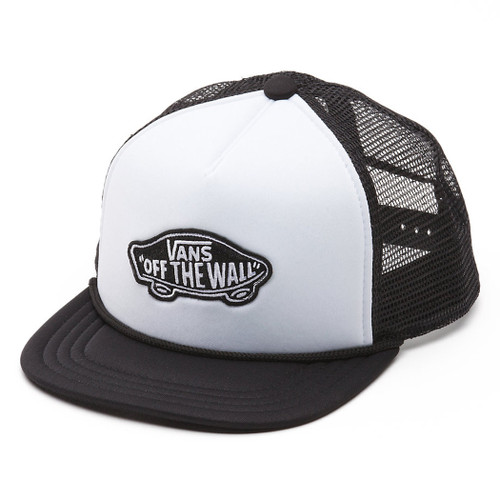 Vans Boy's Hat - Classic Patch - White/Black