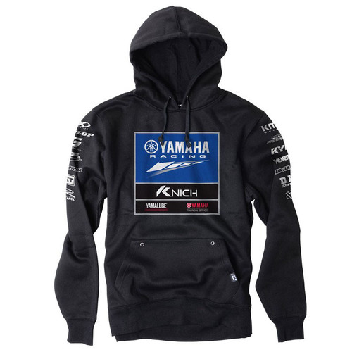 Factory Effex Hoody - 2018 Yamaha Racing Team Pullover - Black
