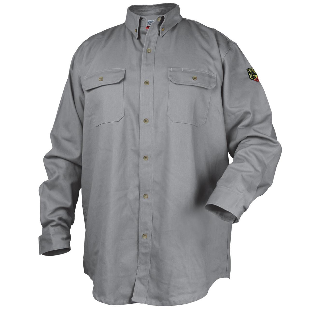Fr Cotton Work Shirt Gray
