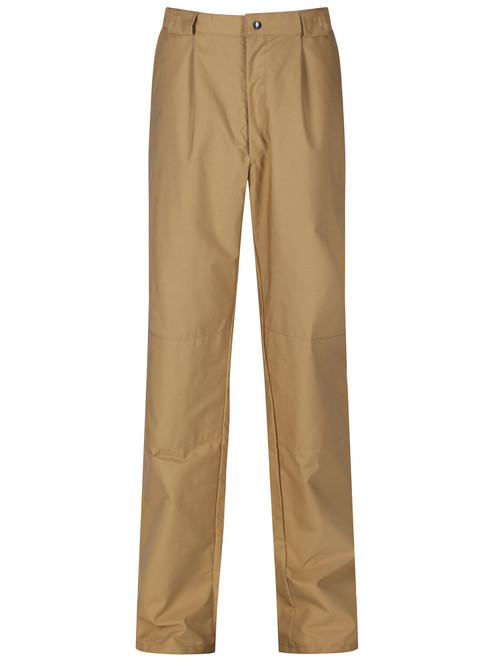 Tough, hardwearing, wind and showerproof.  Waistband has comfort elastic at sides and wide belt loops. Colour: Bronze.
