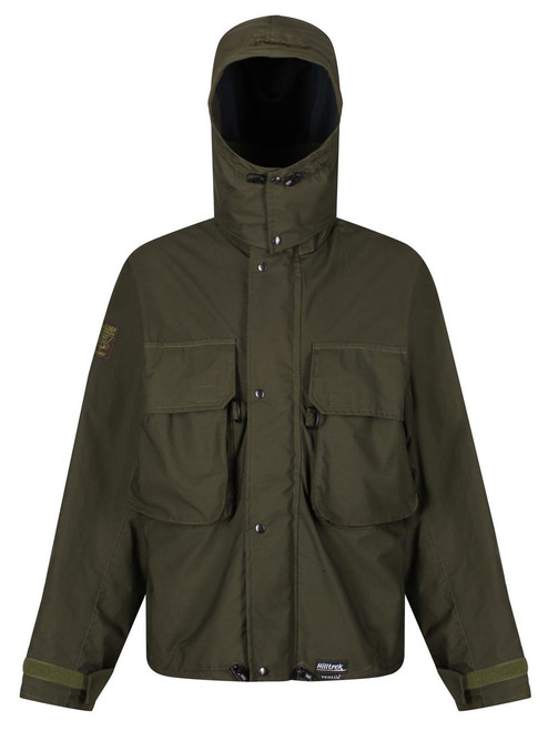 Colour: Olive. Fully waterproof and highly breathable fishing jacket designed for wading. The attached hood is designed to keep out the wind swept rain and give good visibility.