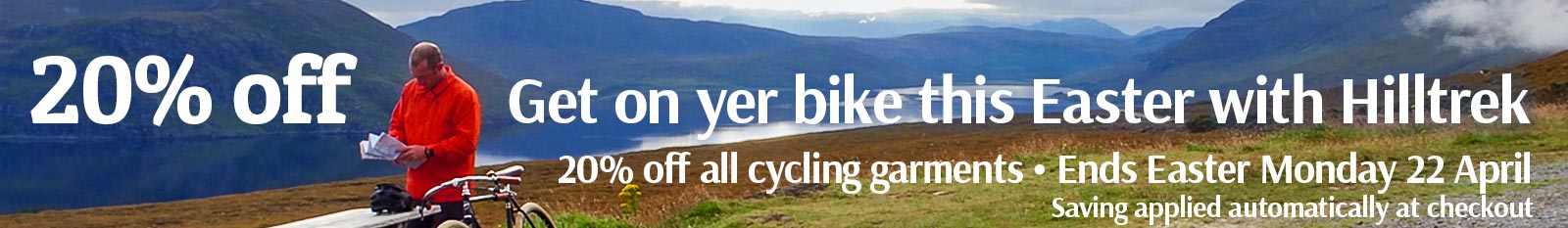 On yer bike this Easter - save 20 percent with Hilltrek