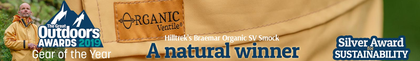 Hilltrek Braemar Organic SV Smock - Silver Award for Sustainability TGO Gear of the Year 2019