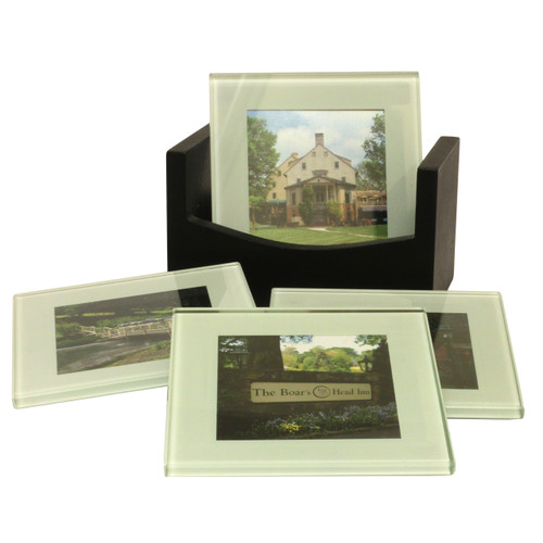 898dcef89e6 Set 4 Glass Coasters - Boar s Head Inn Store