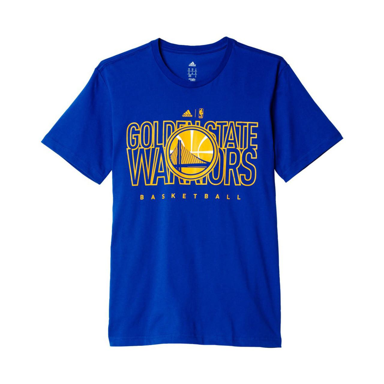 5150259c14 ADIDAS golden state warriors basketball t-shirt  blue