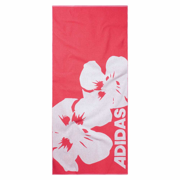 ADIDAS graphic beach towel [red/white]