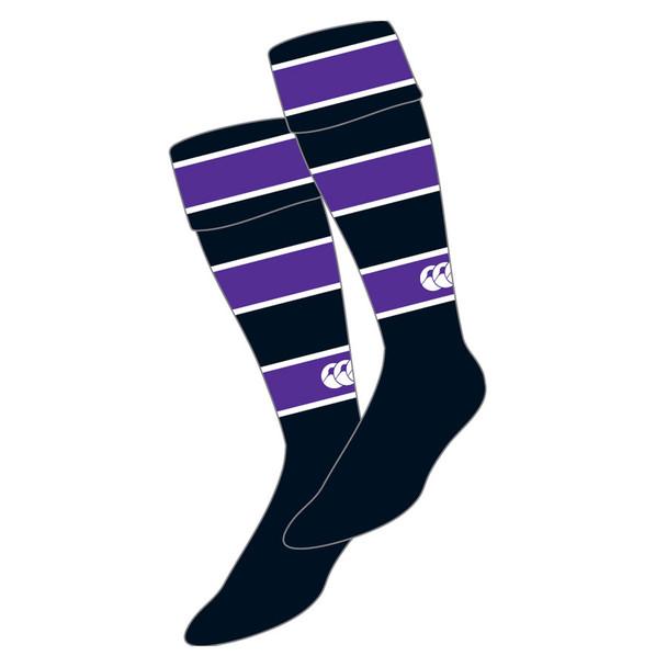 CCC  Striped rugby socks Belsize Park [Black/purple]
