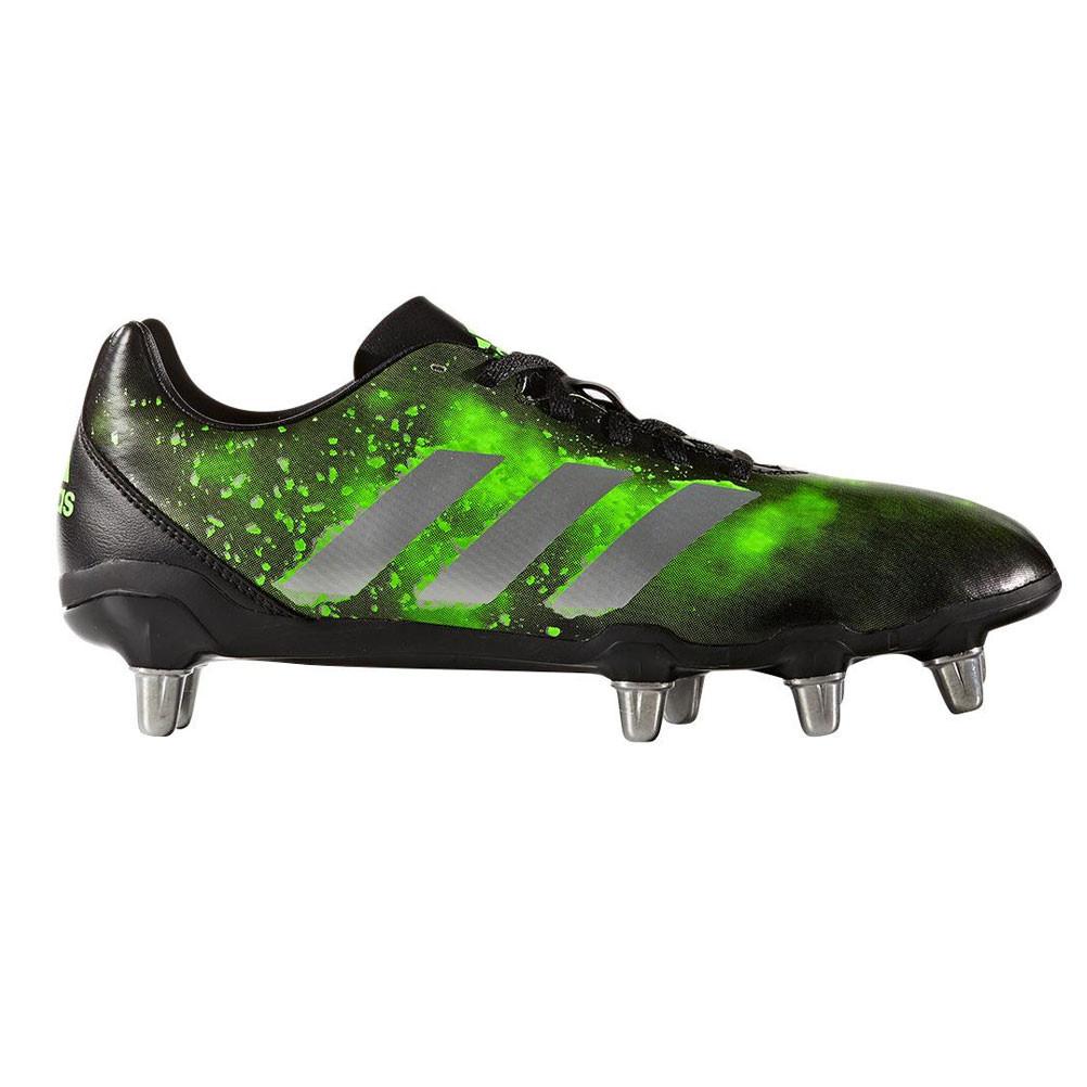 737045cc664 ADIDAS kakari SG rugby boots  black green  - UK 15 4057286887982