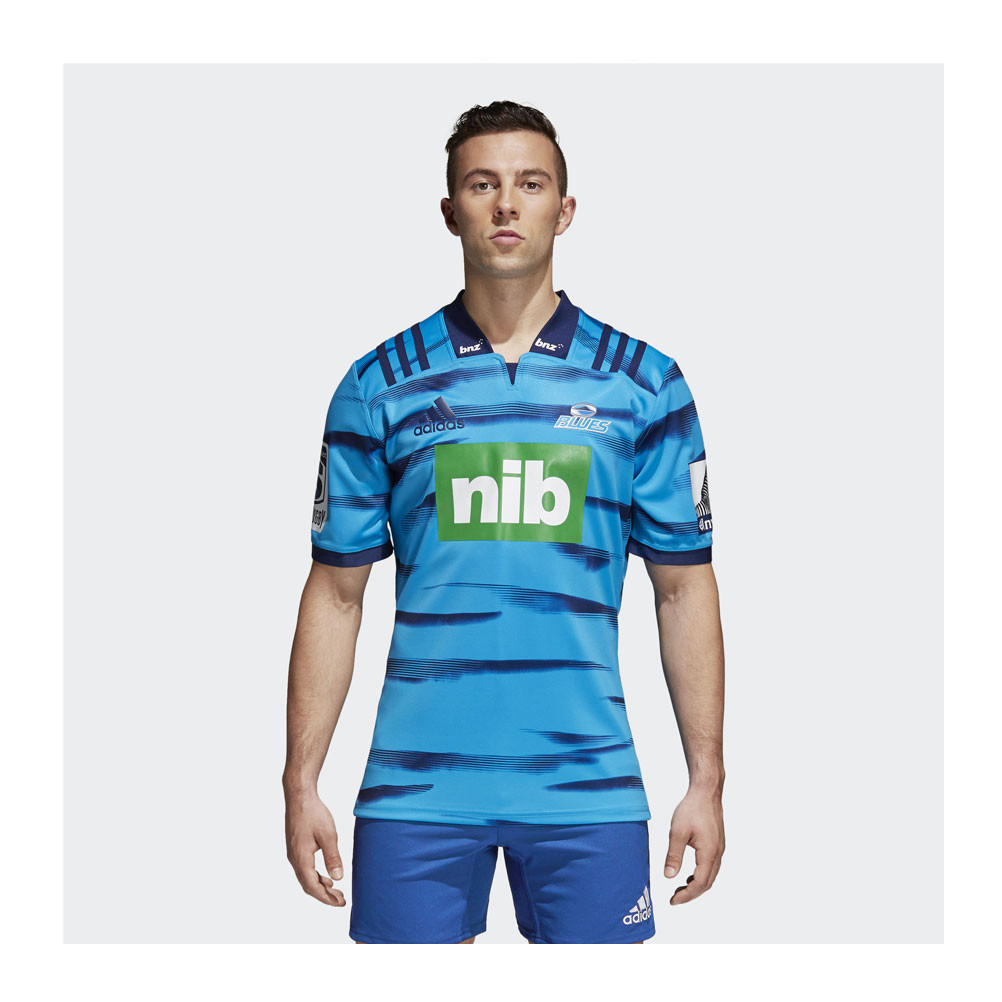 3bfd5968fa8 ADIDAS auckland blues home 2018 super rugby t-shirt [blue] | eBay