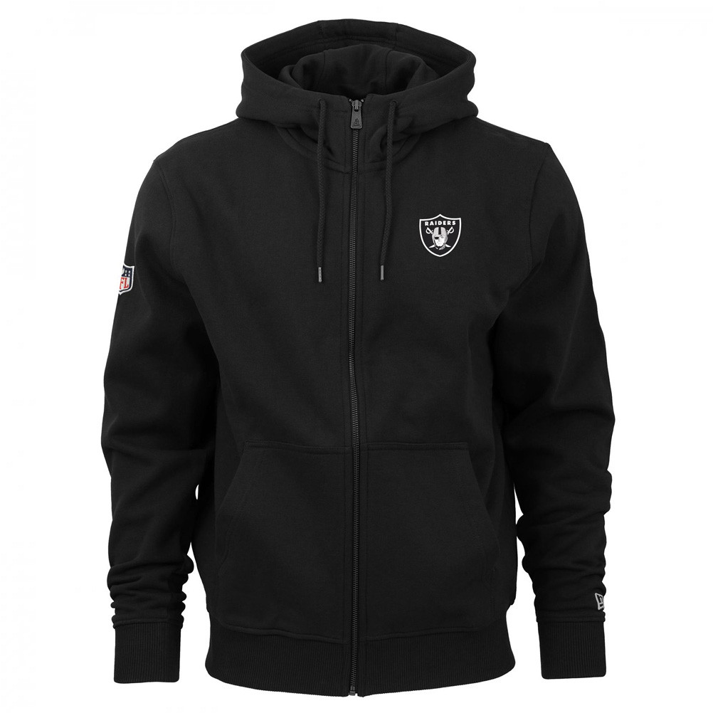 hot sale online f53c5 3d9e7 Details about NEW ERA oakland raiders team apparel NFL Full zip hoodie  [black]