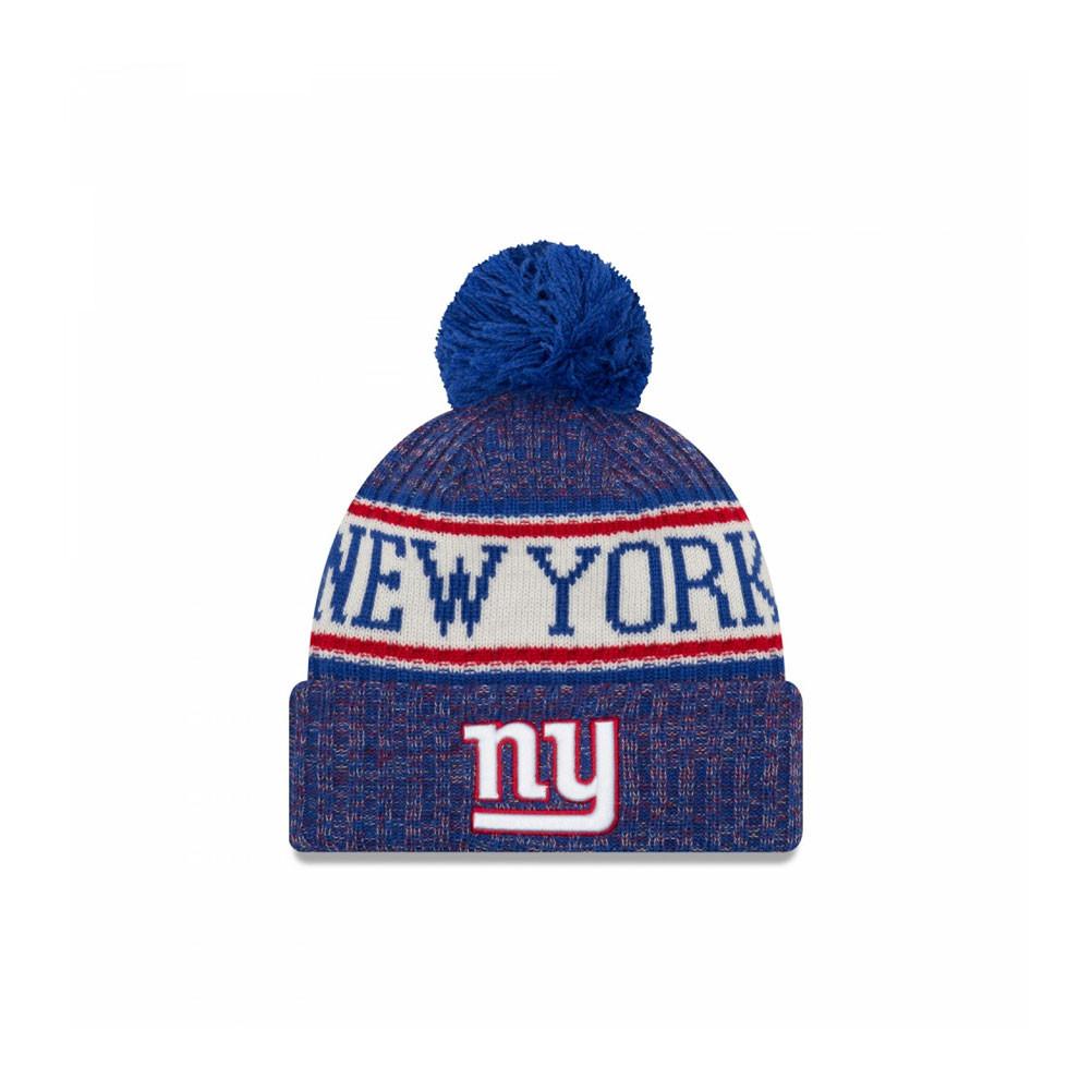 NEW ERA New York Giants NFL sideline knit bobble beanie hat  blue ... 7e9f157f9