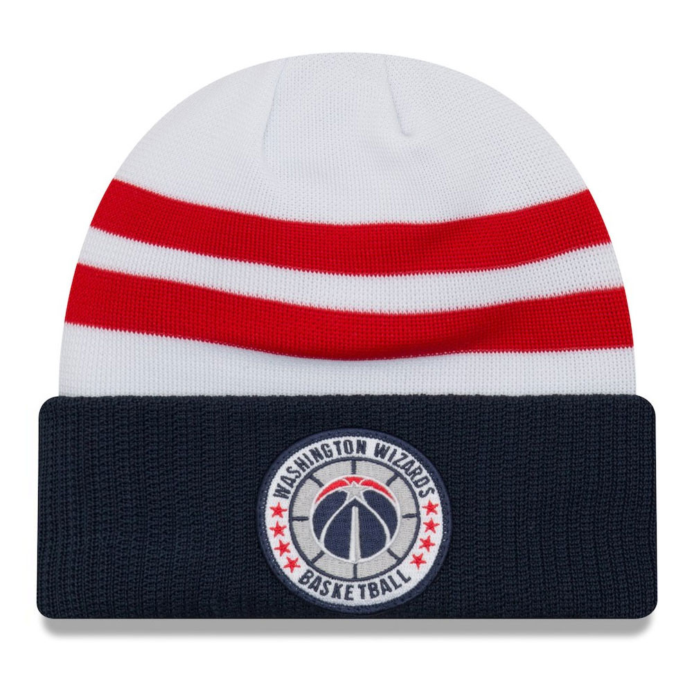657947250 Details about NEW ERA washington wizards NBA tip-off beanie hat   white navy red