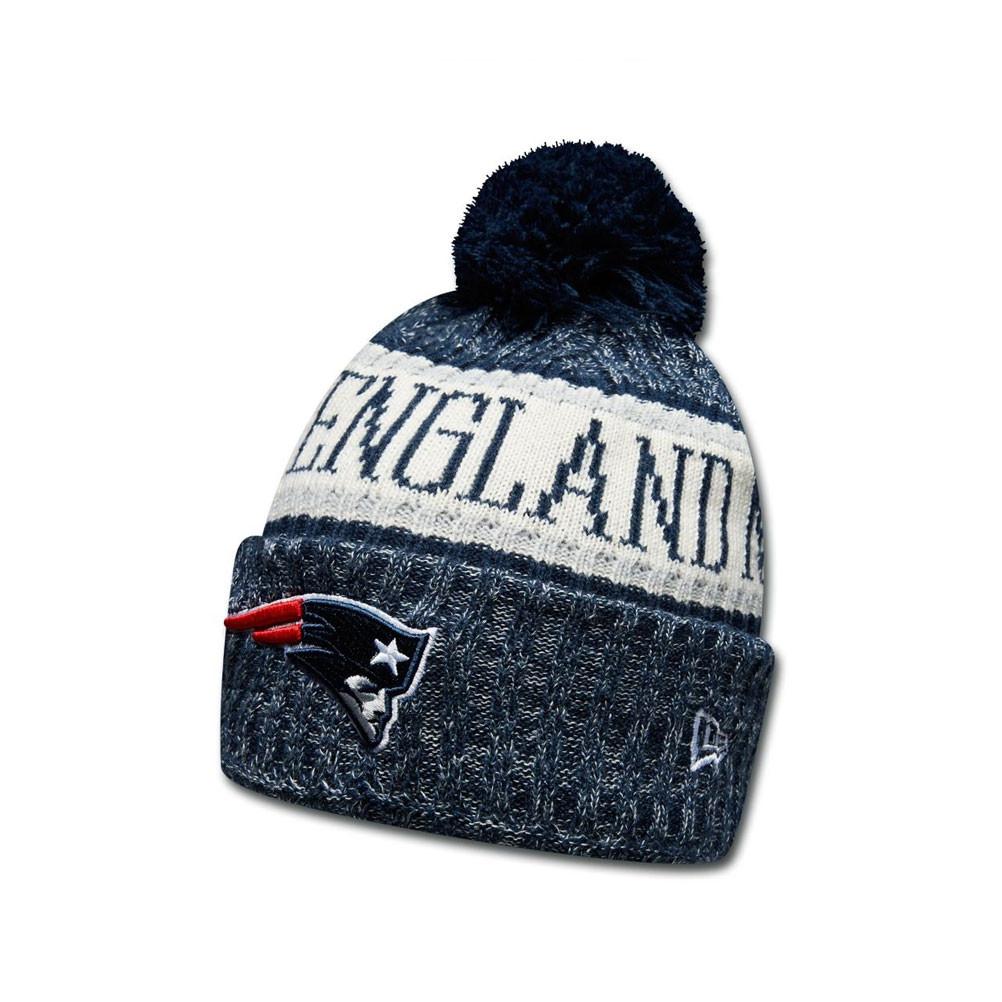 4fb6b700b Details about NEW ERA New England Patriots NFL sideline knit bobble beanie  hat  blue