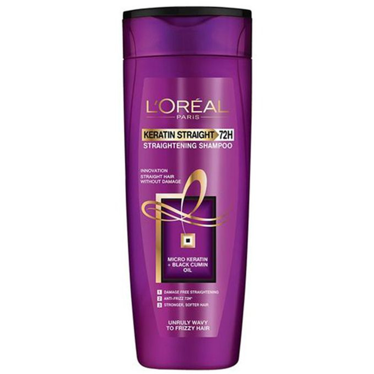 L 39 oreal paris keratin straight 72h shampoo 360ml livewell pk for Loreal salon price list