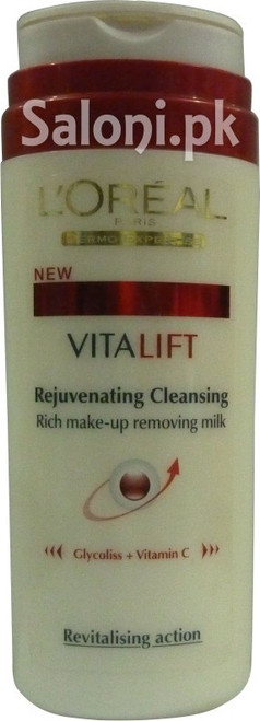 L'oreal Paris VitaLift Rejuvenating Cleansing Rich Make-up Removing Milk Buy Online In Pakistan Best Price