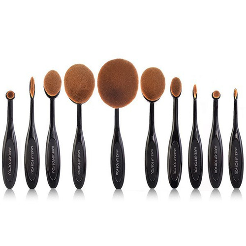 Multipurpose Makeup Brush 10 Pieces Set Shop online in Pakistan