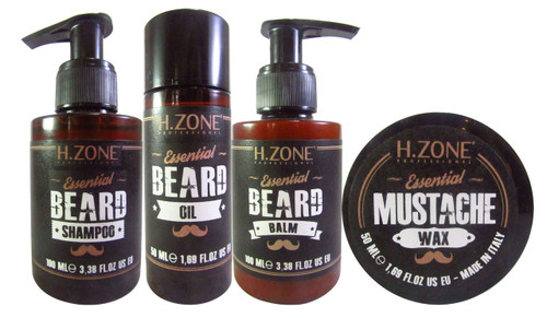 H.Zone Professional Essential Beard 4 Pack Kit  Buy  Online In Pakistan Best Price Original Product