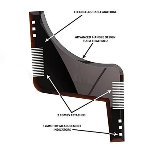 Essential Beard Shaping Tool & Comb best price
