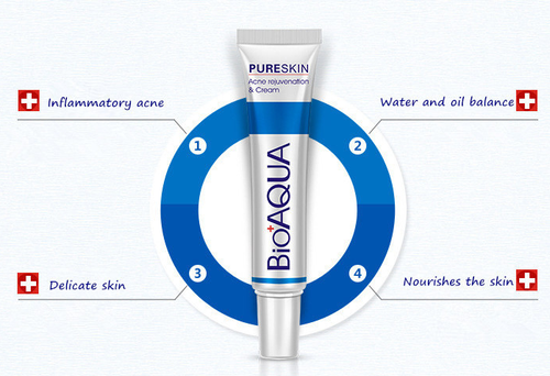 Bioaqua Pure Skin Acne Removal & Rejuvenation Cream 30g benefits best price