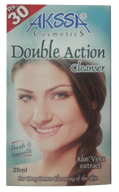 Akssa Double Action Cleanser 20 ML (Front)