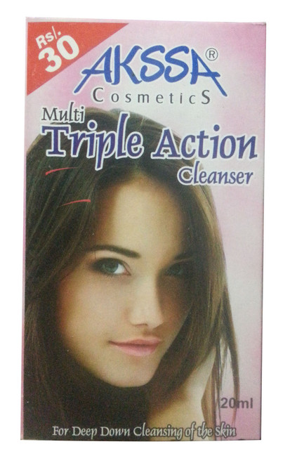 Akssa Cosmetic Mutli-Triple Action Cleanser 20 ML (Front)