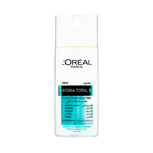 L'Oreal Paris Hydra Total 5 Pure Cleansing Milk (Normal to Combination Skin)  Buy Online In Pakistan Best Price Original Product