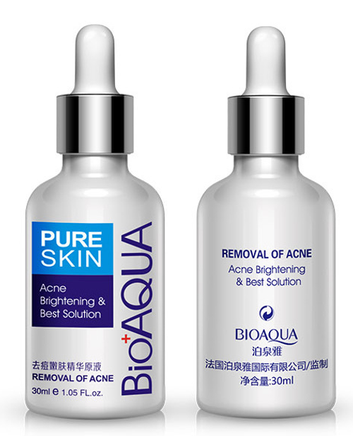 Bioaqua Pure Skin Acne Removal & Brightening Solution 30ML original products