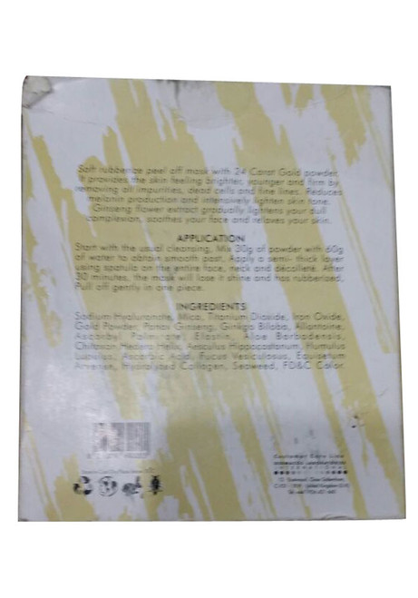 Dermacos Hydrating Rubbing Peel Off Mask 24K Gold best price original product