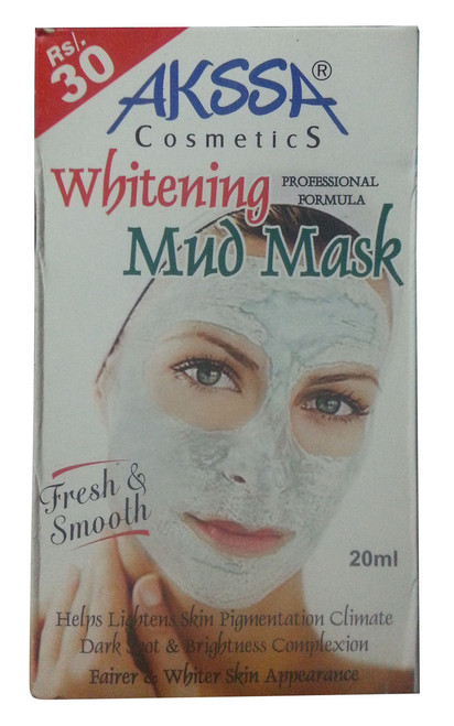 Akssa Whitening Mud Mask 20 ML (Front)