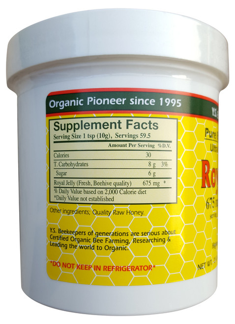 GNC Organic Bee Farms Royal Jelly 675 MG Serving  Best price  Original product