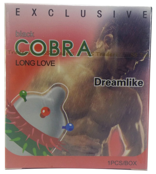 Black Cobra Dreamlike Long Love Spike Condom 1 Piece    shop online in Pakistan best price