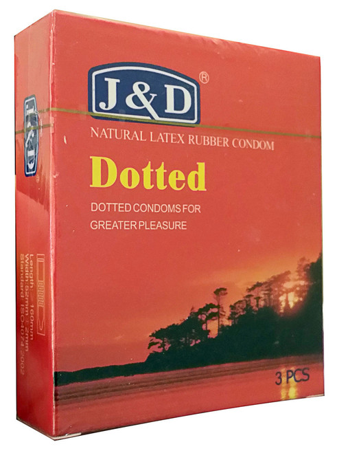 J&D Dotted Natural Latex Rubber Condom 3 Pieces shop online in Pakistan best price