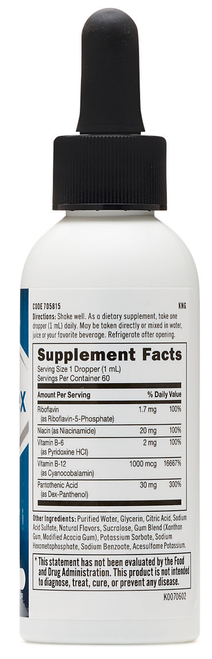 GNC B-complex Orange 60ML (Liquid Dietary Supplement) original supplement nutrition facts