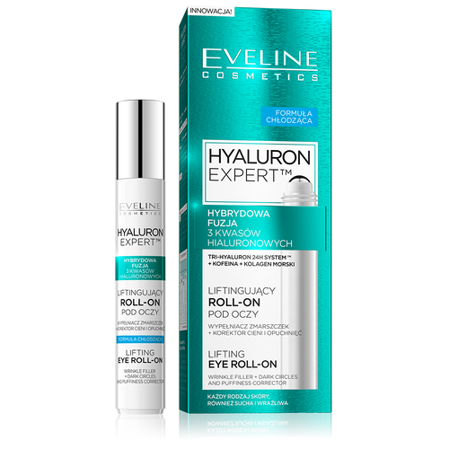 Eveline Hyaluron Lifting Eye Roll On 15ML shop online genuine eveline products best price