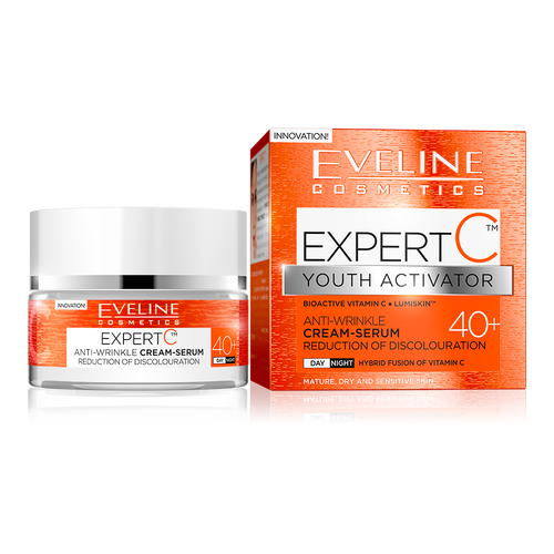 Eveline Expert C Youth Activator Cream Serum 40+ (50ML) shop online genuine eveline products in pakistan vitamin c anti ageing cream