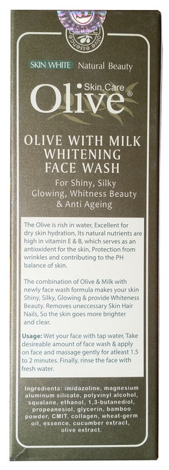 Olive Natural Olive with Milk Whitening Face Wash 120g benefits