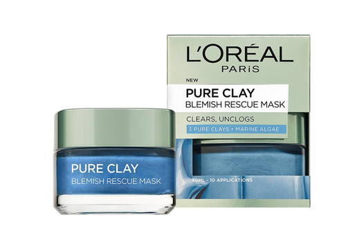 L'Oreal Paris Pure Clay Marine Algae Mask - Anti-Blemish Blue 50ml shop online in pakistan